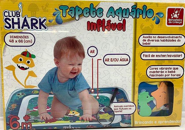 TAPETE INFLÁVEL AQUÁRIO CLUB SHARK BRINCADEIRA DE CRIANÇA- 3052