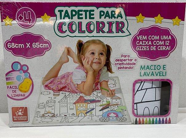 TAPETE PARA COLORIR PRINCESAS BRINCADEIRA DE CRIANÇA- 3168