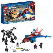 LEGO SUPER HEROES DISNEY  MARVEL  HOMEM ARANHA  SPIDERJET VS ROBÔ VENOM 76150