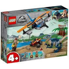 LEGO VELOCIRAPTOR  MISSÃO DE RESGATE COM BIPLANO 75942 101 PEÇAS
