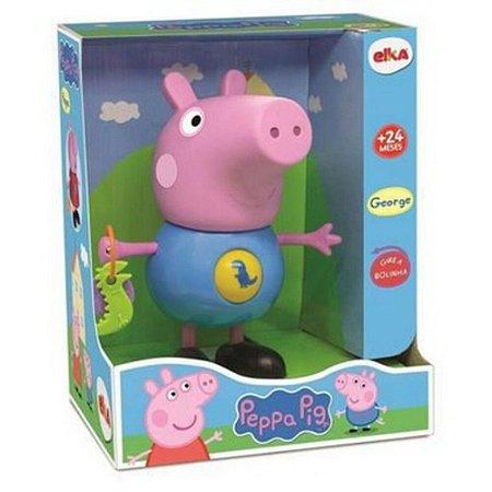 BONECO GEORGE PEPPA PIG COM ATIVIDADES ELKA- 1098