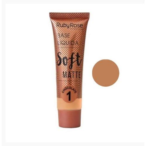 BASE LIQUIDA SOFT MATTE RUBY ROSE  CHOCOLATE 1 - HB 8050