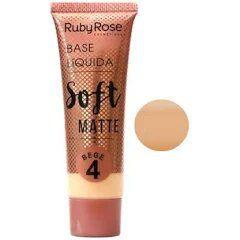 BASE LIQUIDA SOFT MATTE RUBY ROSE BEGE 4 - HB 8050