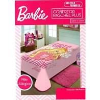 COBERTOR SOLTEIRO JOLITEX RASCHEL PLUS DISNEY BARBIE 3155