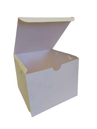 200 Embalagem Caixa Branca Hambúrguer Lanche Fritas Grandes Porções