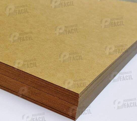 Papel Kraft 170g A4 180gr Rústico Para Artesanato 250 Folhas 21x29,7 cm