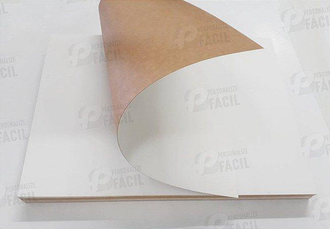 Papel Cartão Duplex 250g A4 Branco Frente e Verso Kraft para Artesanato 250 Folhas 21x29,7 cm