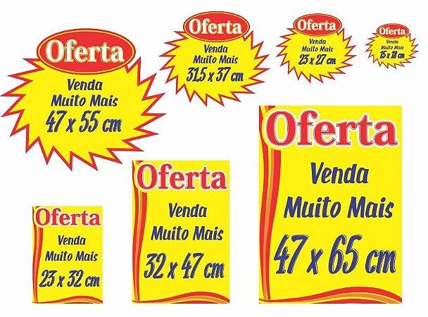 Cartaz Oferta Splash Amarelo Promoção de Supermercado para Gôndolas  70 Unidades