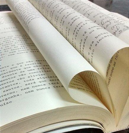 Papel Pólen A5 Soft 80g 1000 Fls Amarelo Para Fabricação de Livros e moleskines
