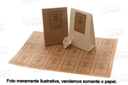 Papel Kraft 135g / 140g  A4 Marrom 500 Folhas