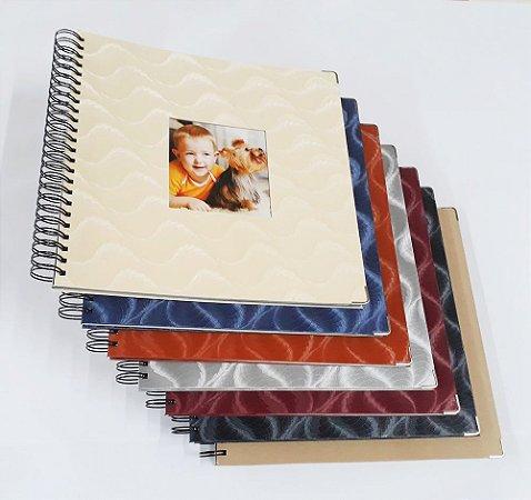 Album Scrapbook Grande 33x32 Várias Cores Caderno Assinatura