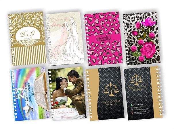 100 Mini Cadernetas Personalizada Agendinha 10x15 P/ Empresa Brinde