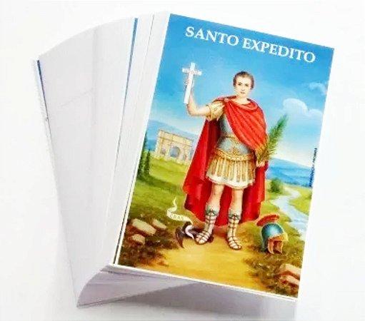 Milheiro De Santinho Santo Expedito Oração De Promessa 1000 un