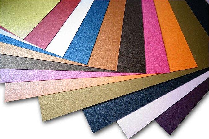 54 Fls Papel Metalizado Colorido A4 180g Silhouette 180gr