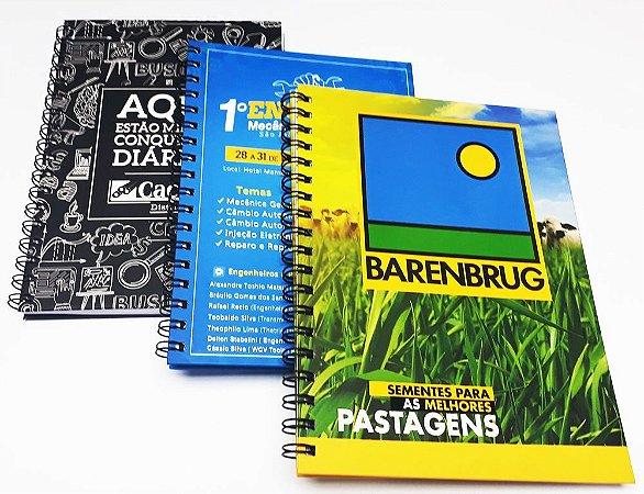 10 Cadernos Personalizados P/ Empresas Foto Logotipo 16x23