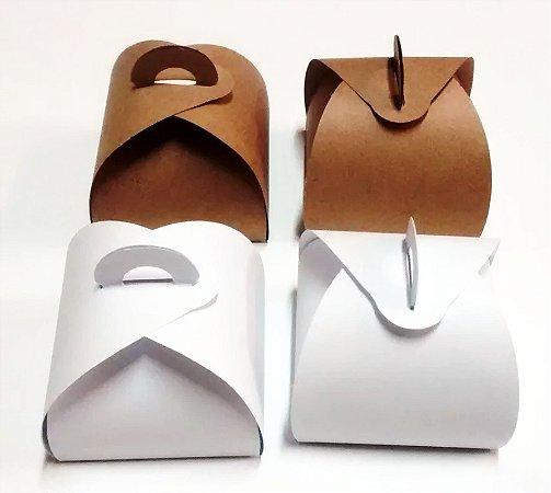 300 Caixinhas Bem Casado Kraft E Branca Forma De Papel Craft