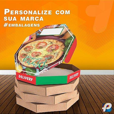 20 Caixas Pizza Oitavada Mussarela 36 Qualidade Fotográfica