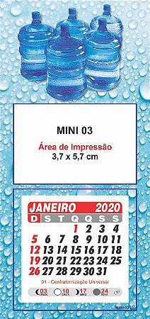 100 Mini Calendário Imã Geladeira 2020 Personalizado Aguá