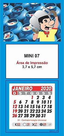100 Mini Calendário Imã Geladeira 2020 Personalizado Gás