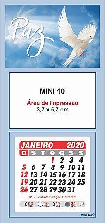 100 Mini Calendário Imã Geladeira 2020 Personalizado Paz