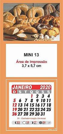 100 Mini Calendário Imã Geladeira 2020 Personalizado Pão