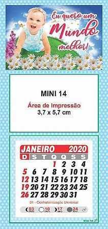 100 Mini Calendário Imã Geladeira 2020 Personalizado Bebe
