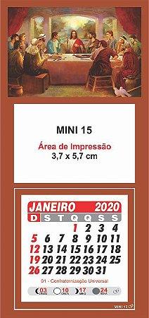 100 Mini Calendário Imã Geladeira 2020 Personalizado Santa Ceia