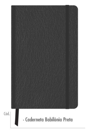 3 Cadernetas Bloco Anotações Pontilhada Preta Costurada Sketchbook