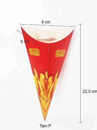 Caixa Cone Para Batata Frita Embalagem 100 Unid Caixinha P