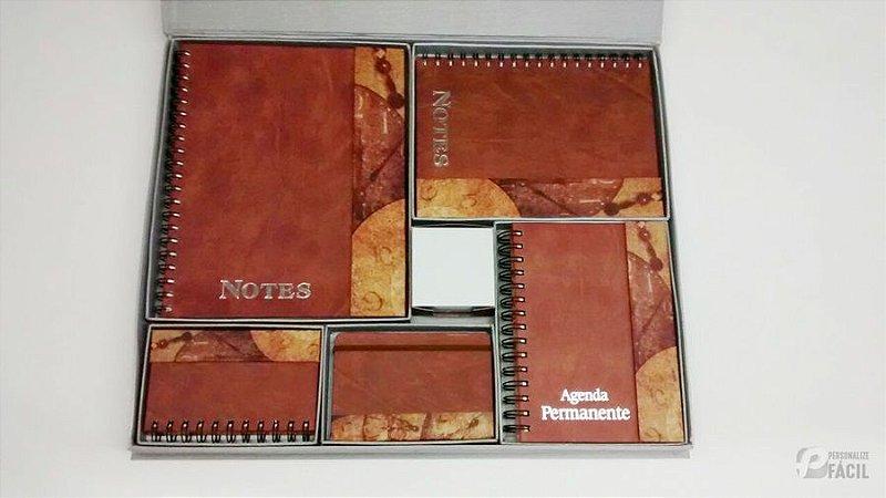 Kit Agenda Permanente Caderno Brinde Corporativo Sketchbook