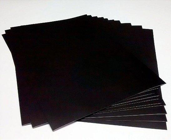 10 Mantas Magnética A4 Adesiva Brinde Para Imã De Geladeira