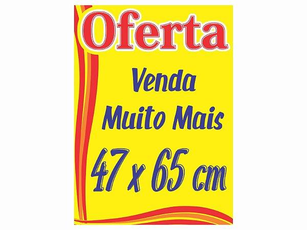 Cartaz Oferta Promoção 47x 65 Amarelo P/ Supermercado 50 Unidades