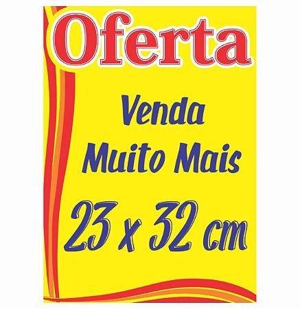 100 Cartaz Oferta Promoção Amarelo Supermercado Mercados 23x32 cm