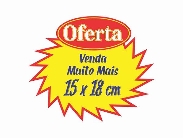 100 Cartaz Splash Oferta Promoção 15x18 Amarelo Mercado supermercado