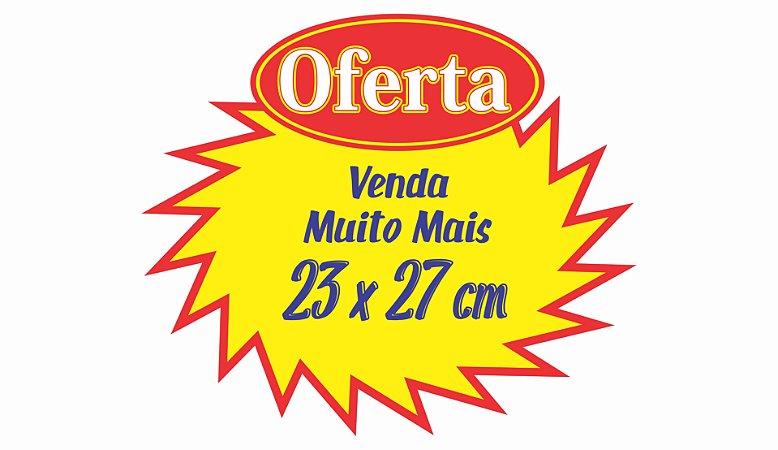 200 Cartaz Splash Oferta Promoção 23x27 Estrela Amarelo mercado