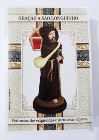 Um Milheiro Santinho São Longuinho Oração De Promessa