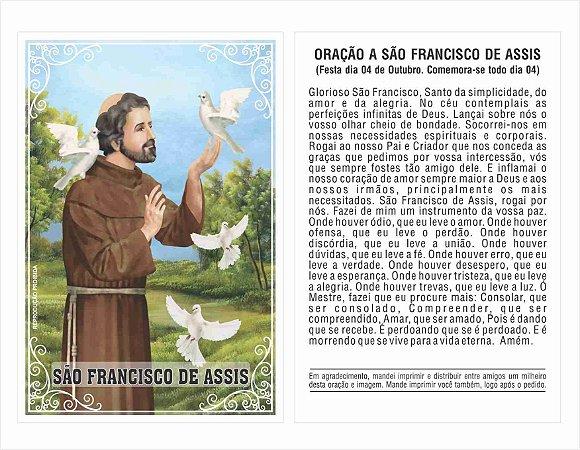 Milheiro São Francisco De Assis Oração De Promessa Santinho