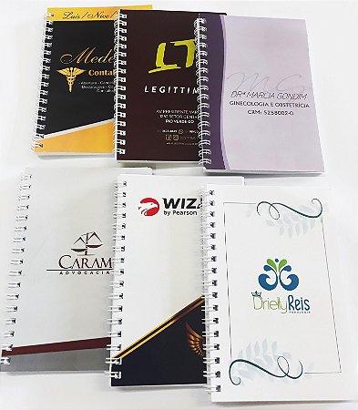 500 Mini Agendas 10x15 Agendinhas Caderneta Personalizada P/ Empresa Logotipo