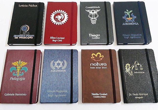 10 Cadernetas Personalizadas Corporativa 14x20 Com Logotipo Nome