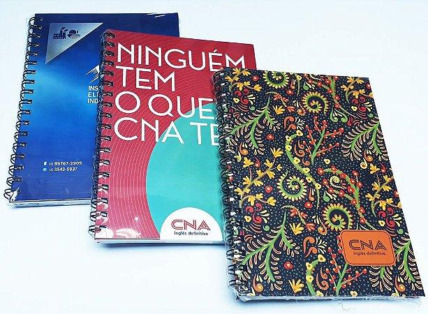 100 Cadernos Personalizados Para Empresas Corporativo 21x27 Logo