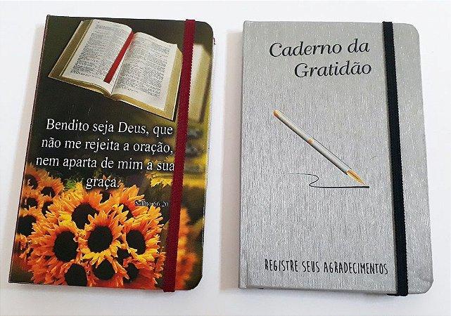 2 Cadernetas Personalizadas Pequena Corporativa 9x14 cm Com Nome Logotipo