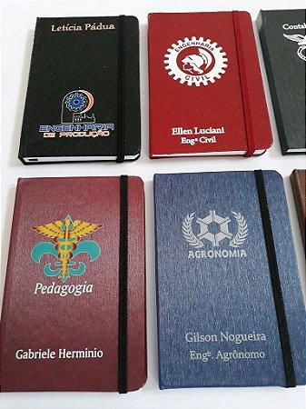 5 Cadernetas Corporativa Personalizadas  9x14 cm Com Profissões Logotipo Nome