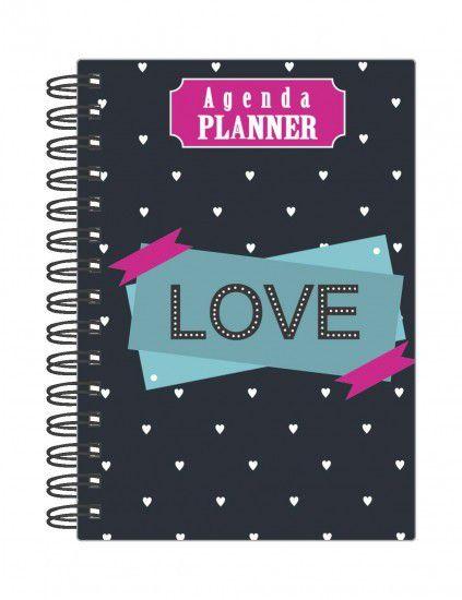 Agenda Planner Permanente Mensal Planejamento Anual Love