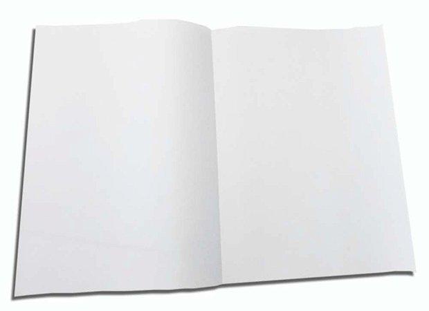 100 Folhas De Papel Almaço Sem Pauta Branco Liso 20x27,5