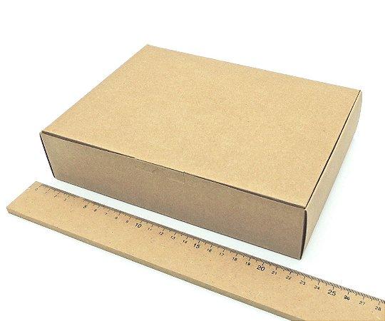 20 Caixas Rústicas De Embalagem Kraft Para Presente 22x16x5