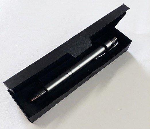 100 Caixas Box Luxo Estojo P/ Caneta Embalagem Preta metalizada