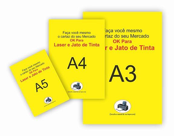 Cartaz 300 Und Oferta Amarelo Mercado Promoção P/ Impressora