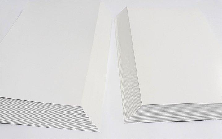 50 Papel Cartão Supremo 250g A3 Triplex Suzano Branco 250gr