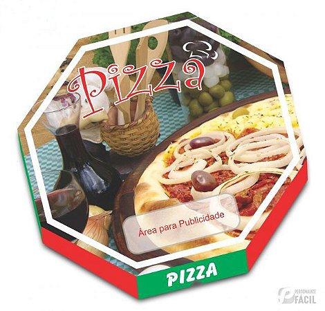 20 Caixas De Pizza Embalagem Oitavada Mista 36 Fotográfica