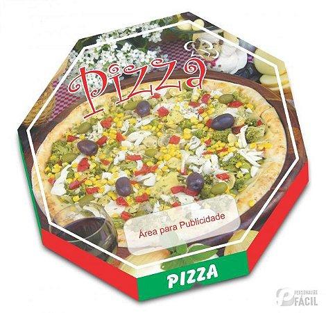 20 Caixas De Pizza Papelão Oitavada Vegetariana 36 Cm Fotográfica